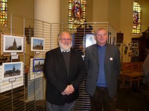 M. le Doyen Yves Alberty et Jules Wilmet, Secrétaire du Cercle historique à l'occasion du Week-end Wallonie Bienvenue (Crédit photo: G.Maniquet)